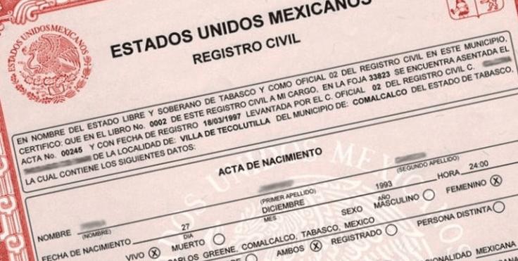 Como sacar acta de nacimiento mexicana en Estados Unidos